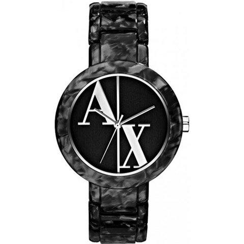 アルマーニエクスチェンジ 腕時計 レディース AX3130 ブラック×ブラック