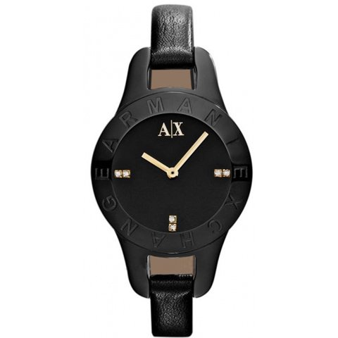 アルマーニエクスチェンジ 腕時計 レディース AX4125 ブラック×ブラック