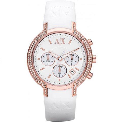 アルマーニエクスチェンジ 腕時計 レディース AX5063 ホワイト×ホワイト