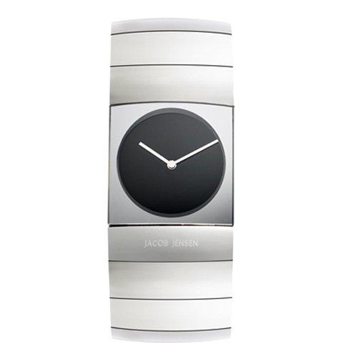 ヤコブ・イェンセン 腕時計 メンズ 571 ブラック×シルバー
