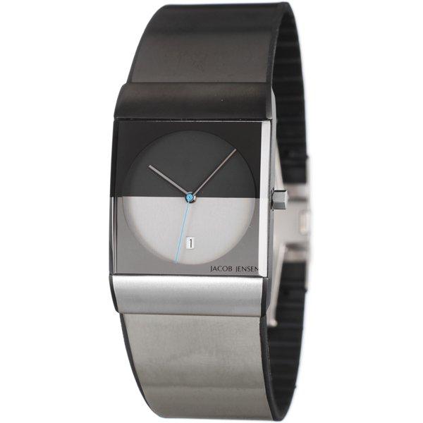 ヤコブ・イェンセン 腕時計 メンズ 510 クラシック ブラック×グレー×ブルー