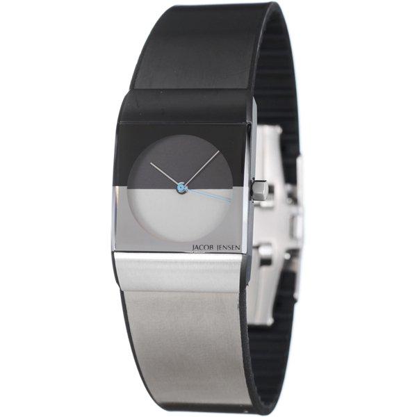 ヤコブ・イェンセン 腕時計 レディース 520 クラシック ブラック×グレー×ブルー