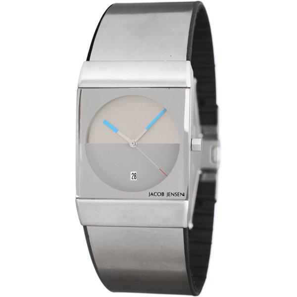 ヤコブ・イェンセン 腕時計 メンズ 512 クラシック グレー×ブルー