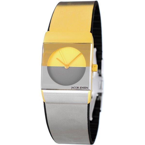 ヤコブ・イェンセン 腕時計 レディース 523 クラシック ゴールド×ステンレススチール