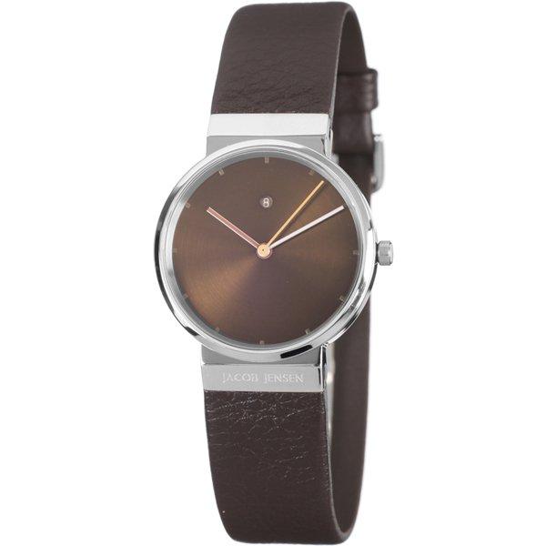 ヤコブ・イェンセン 腕時計 レディース 853 ブラウン