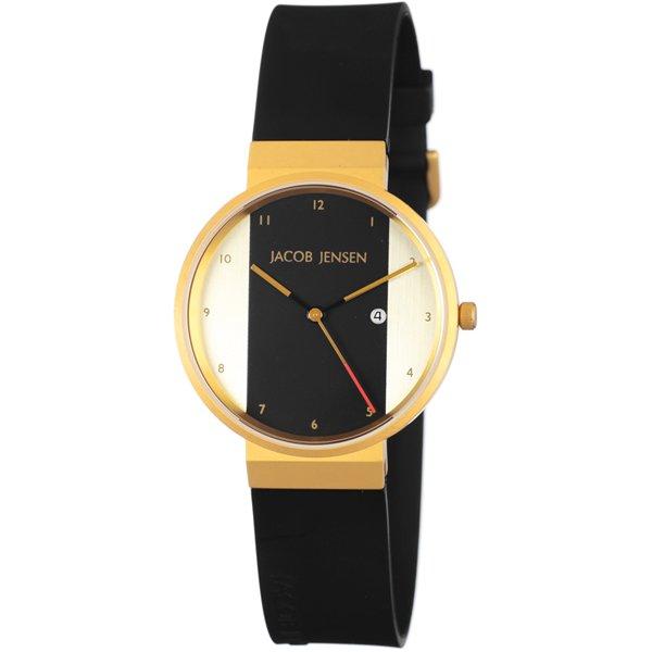 ヤコブ・イェンセン 腕時計 メンズ 734 ブラック×ゴールド
