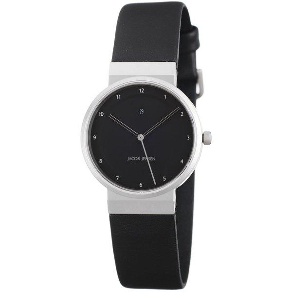 ヤコブ・イェンセン 腕時計 レディース 870 ブラック×シルバー