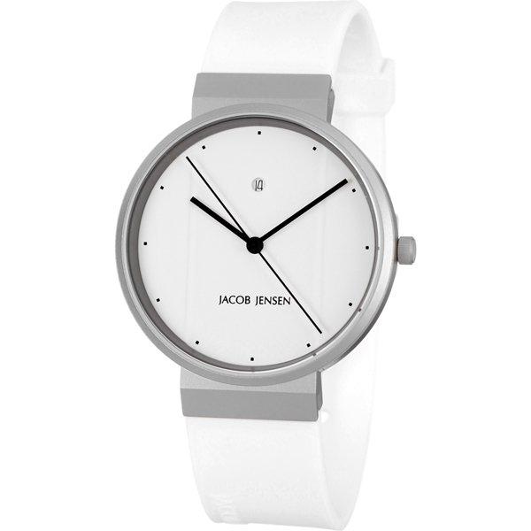 ヤコブ・イェンセン 腕時計 メンズ 754 ホワイト