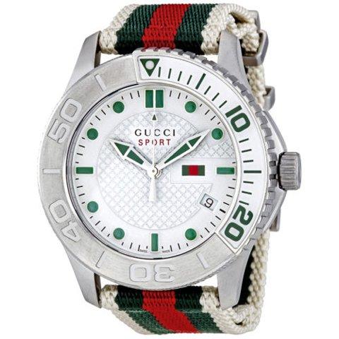 newest f5bc7 789e6 グッチ 腕時計 メンズ G-タイムレス スポーツ YA126231 ホワイト - 腕時計の通販ならワールドウォッチショップ