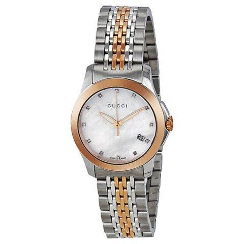 グッチ 腕時計 レディース G-タイムレス スモール YA126514 マーザーオブパール×ツートン
