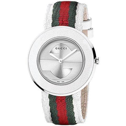 グッチ 腕時計 レディース U-プレイ YA129411 シルバー×マルチカラー