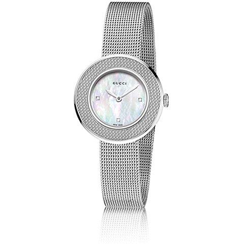 グッチ 腕時計 レディース U-プレイ YA129517 マザーオブパール×シルバー