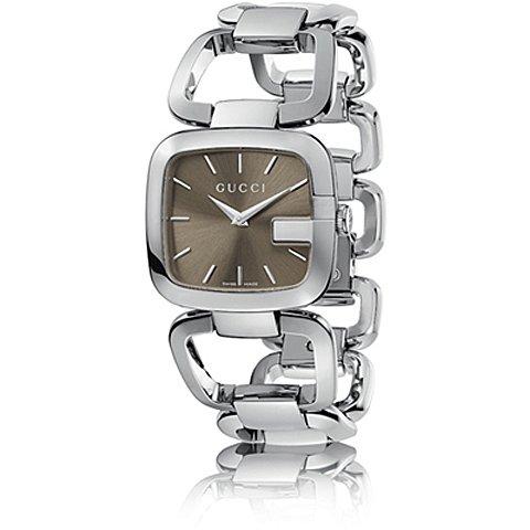 グッチ 腕時計 レディース G-グッチ ミディアム YA125402 ブラウン×シルバー