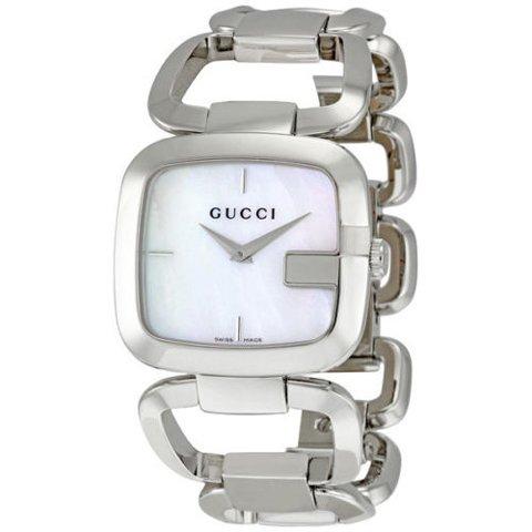 グッチ 腕時計 レディース G-グッチ ミディアム YA125404 マザーオブパール×シルバー