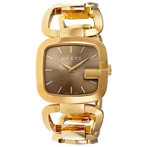 グッチ 腕時計 レディース G-グッチ ミディアム YA125408 ブラウン×ゴールド