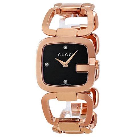 グッチ 腕時計 レディース G-グッチ ミディアム YA125409 ブラック×ローズゴールド