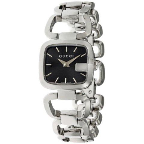 グッチ 腕時計 レディース G-グッチ YA125510 ブラック×シルバー