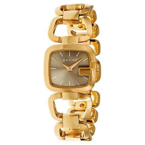 グッチ 腕時計 レディース G-グッチ YA125511 ブラウン×ゴールド