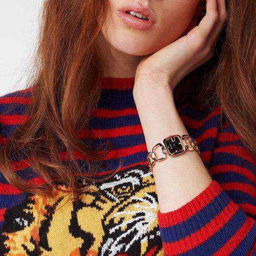 グッチ 腕時計 レディース G-グッチ YA125512 ブラック×ローズゴールド