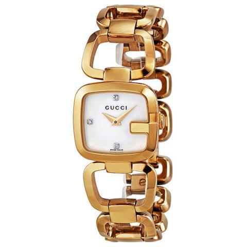 グッチ 腕時計 レディース G-グッチ YA125513 マーザーオブパール×ゴールド