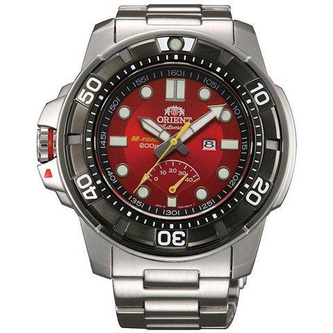 オリエント 腕時計 M-フォース EL06001H  自動巻き パワーリザーブ機能付き レッド