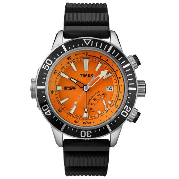 タイメックス 腕時計 ダイバーズ T2N812 インテリジェントクオーツ デプス オレンジ×ブラック