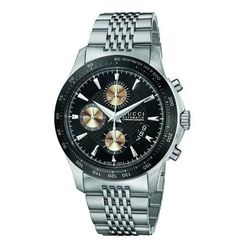 グッチ 腕時計 メンズ G-タイムレス オートマティック YA126214 ブラック×シルバー