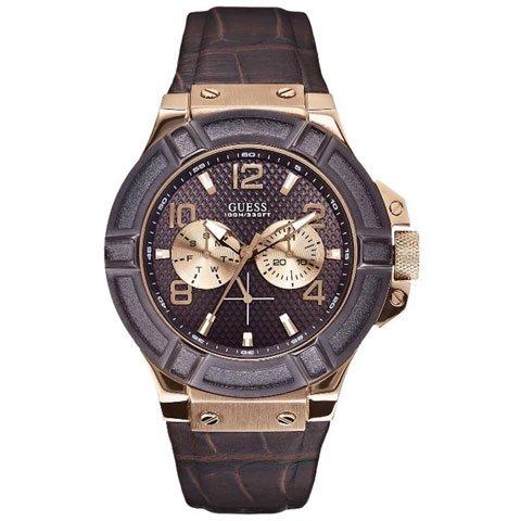 ゲス 腕時計 メンズ リガー W0040G3 ブラウン×ブラウン