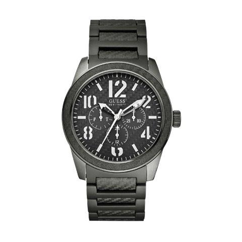 ゲス 腕時計 メンズ パンチド W15073G2 ブラック×ブラック