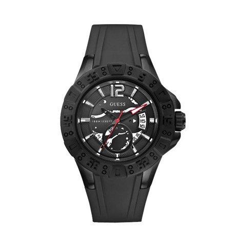 ゲス 腕時計 メンズ マグナム W0034G3 ブラック×ブラック