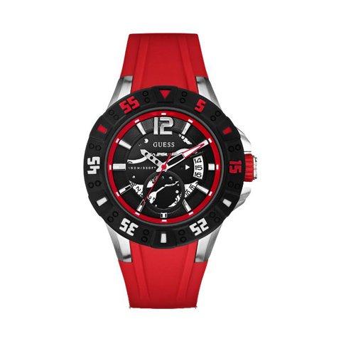 ゲス 腕時計 メンズ マグナム W0034G1 ブラック×レッド