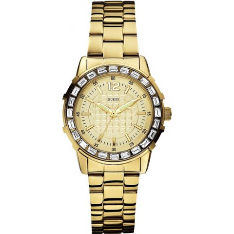 ゲス 腕時計 レディース ガーリーB W0018L2 ゴールド×ゴールド