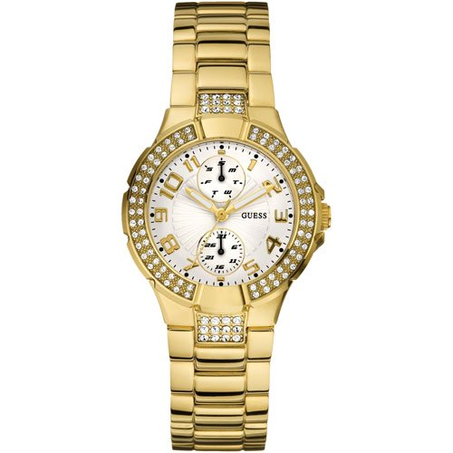 ゲス 腕時計 レディース ミニプリズム W15072L1 ホワイト×ゴールド