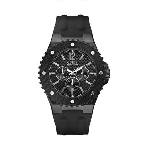 ゲス 腕時計 メンズ オーバードライブ W11619G1 ブラック×ブラック