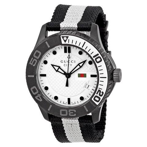 グッチ 腕時計 メンズ G-タイムレス YA126243 ホワイト×ブラック