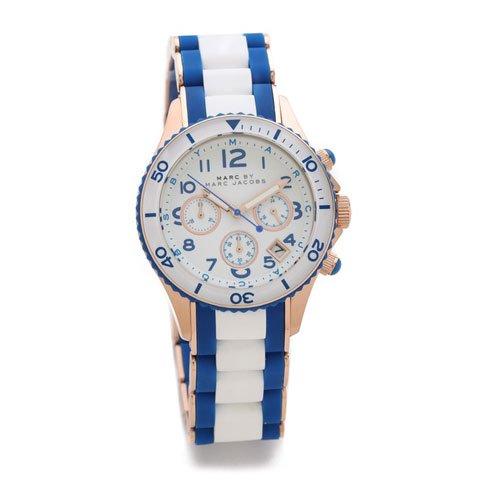 マークバイマークジェイコブス 時計 レディース ロック MBM2594 ホワイト×ブルー