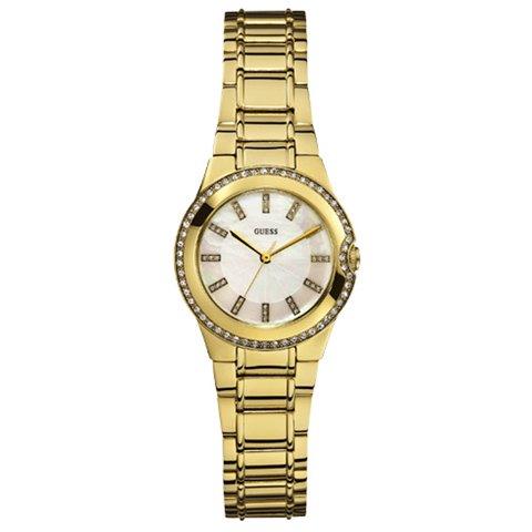 ゲス 腕時計 レディース ミニムーンビーム W12654L1 マザーオブパール× ゴールド