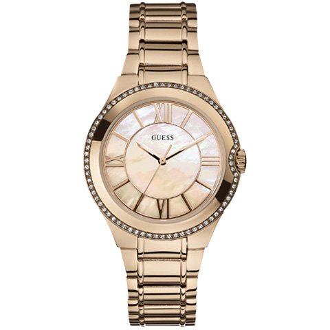 ゲス 腕時計 レディース ムーンビーム W15077L1 マザーオブパール×ローズゴールド