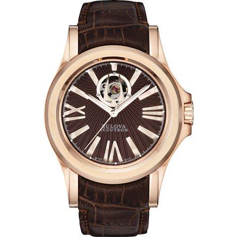ブローバ 腕時計 カークウッド アキュトロン 64A102 ブラウン×ローズゴールド