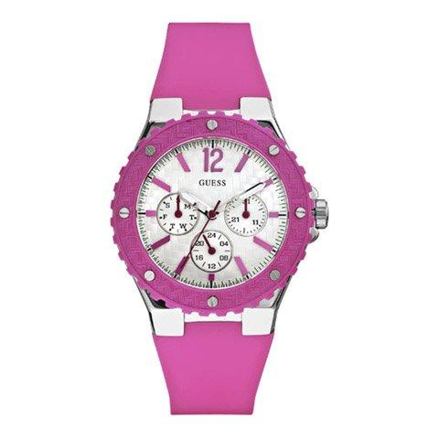 ゲス 腕時計 レディース オーバードライブ W90084L2 ホワイト×ピンク