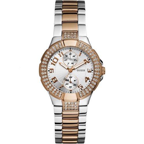 ゲス 腕時計 レディース ミニプリズム W15072L2 シルバー×ツートン