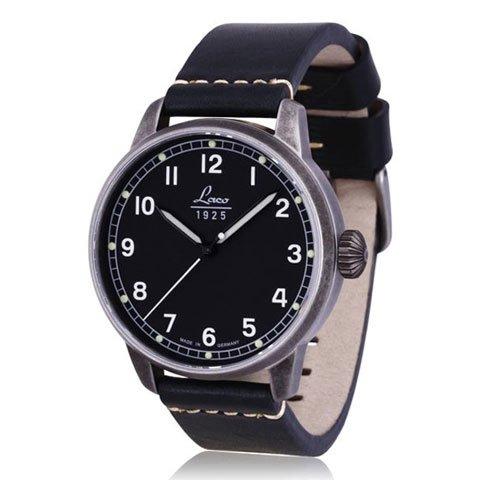 ラコ 腕時計 国内正規品 自動巻き ヴィンテージ パイロットウォッチ 861783 ブラックレザーベルト