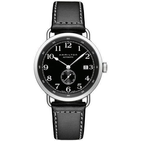 ハミルトン 腕時計 カーキネイビー パイオニア H78415733 ブラック×ブラック