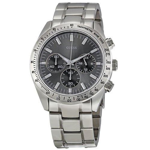 ゲス 腕時計 メンズ チェイス W13001G1 グレーダイアル×ステンレスベルト