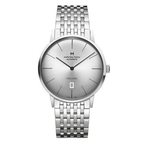 ハミルトン 腕時計 イントラマティック H38755151 オートマティック シルバー×シルバー