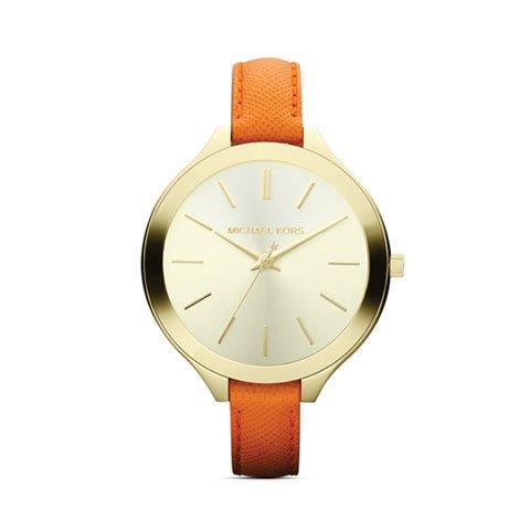 マイケルコース 時計 スリムランウェイ   MK2275 ゴールド×オレンジ
