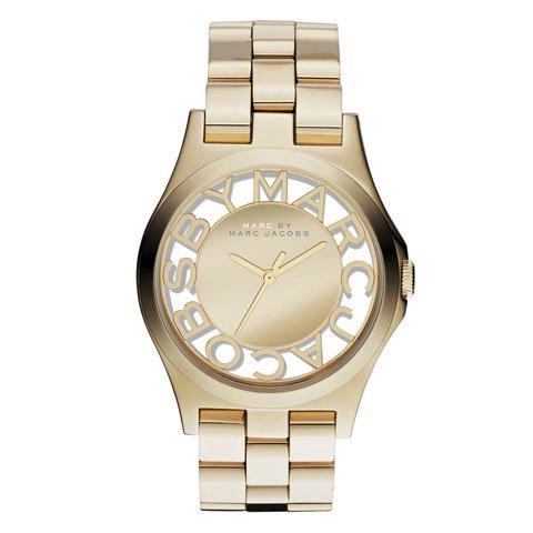 マークバイマークジェイコブス 腕時計 レディース ヘンリースケルトン MBM3206 ゴールド