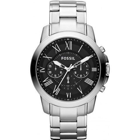 フォッシル 腕時計 メンズ グラント FS4736 ブラック×シルバー