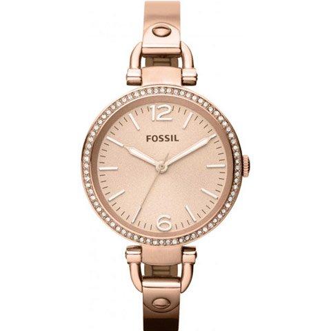 フォッシル 腕時計 レディース ジョージア ES3226 ローズゴールド×ローズゴールド