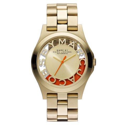 マークバイマークジェイコブス 腕時計 レディース MBM9701 ヘンリー 限定モデル ゴールド×オレンジ